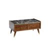 Table basse bois marbré ERVA-1