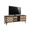 Meuble tv haut décor bois FLIX