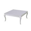Table basse carré laqué blanc BAROK
