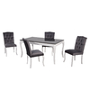 Table repas 4 chaises gris BAROK