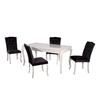 Table repas 4 chaises noir BAROK