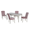 Table repas 4 chaises rose BAROK