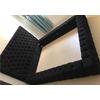 Lit capitonné chester noir 160x200 CÉLIA.1