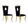 Chaises baroque doré velours noir PIA