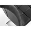 Chaises chromé capitonné noir SIA.3