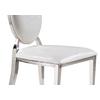 Chaises chromé médaillon croco blanc NEO-1