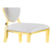 Chaises doré médaillon croco blanc NEO.1