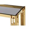 Console design doré verre noir ÈVE.3
