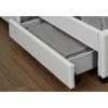 Lit design led tiroirs rangements blanc AVA.4
