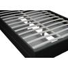 Lit design led tiroirs rangements noir AVA.1
