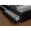 Lit design led tiroirs rangements noir AVA.3