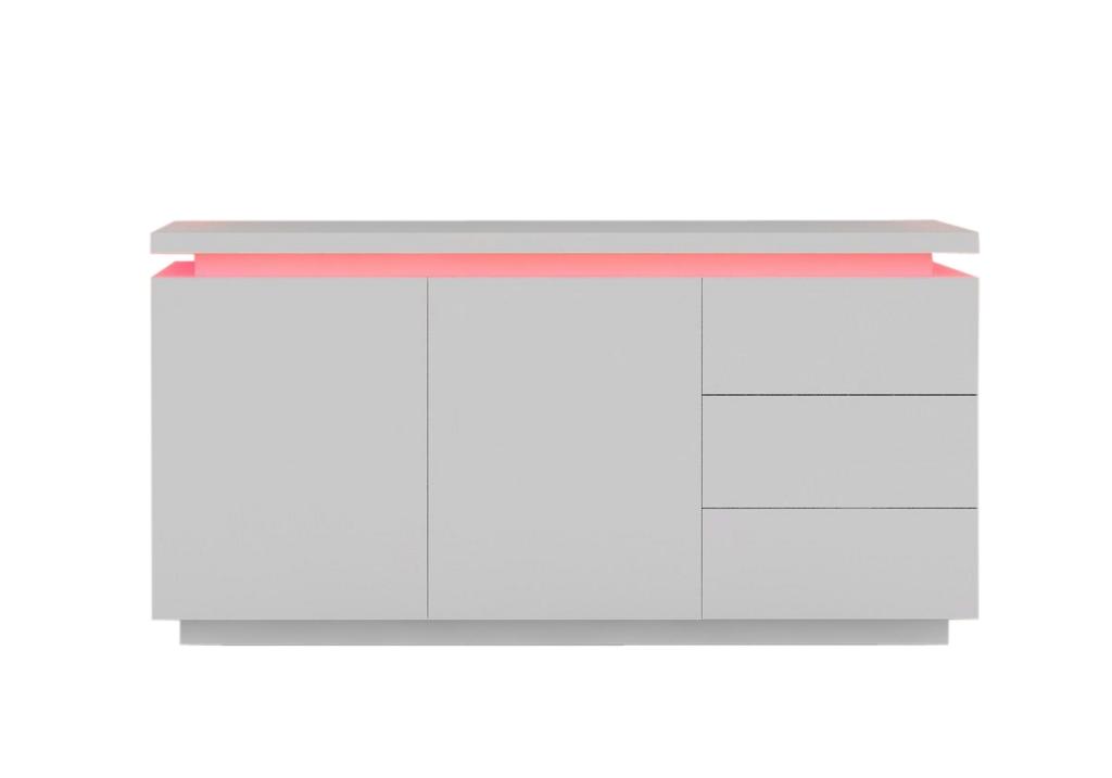 Buffet laqué blanc LED OPRA.2