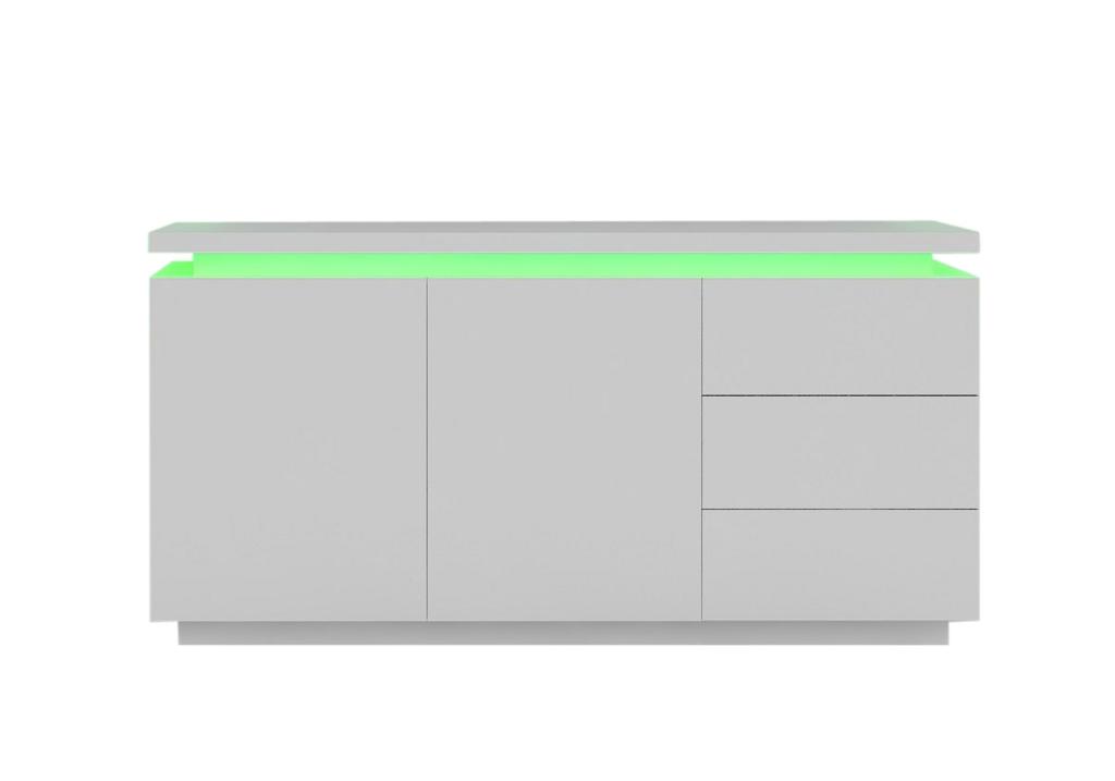 Buffet laqué blanc LED OPRA.4