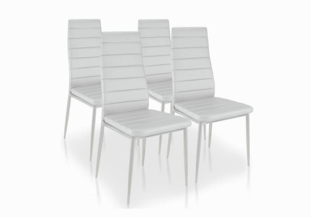Lot de 4 chaises design blanc FLY