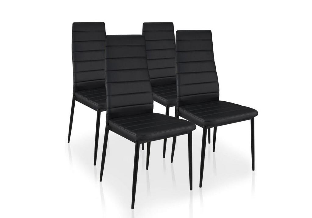 Lot de 6 chaises design noir fly chaise design pas cher - Chaise design fly ...