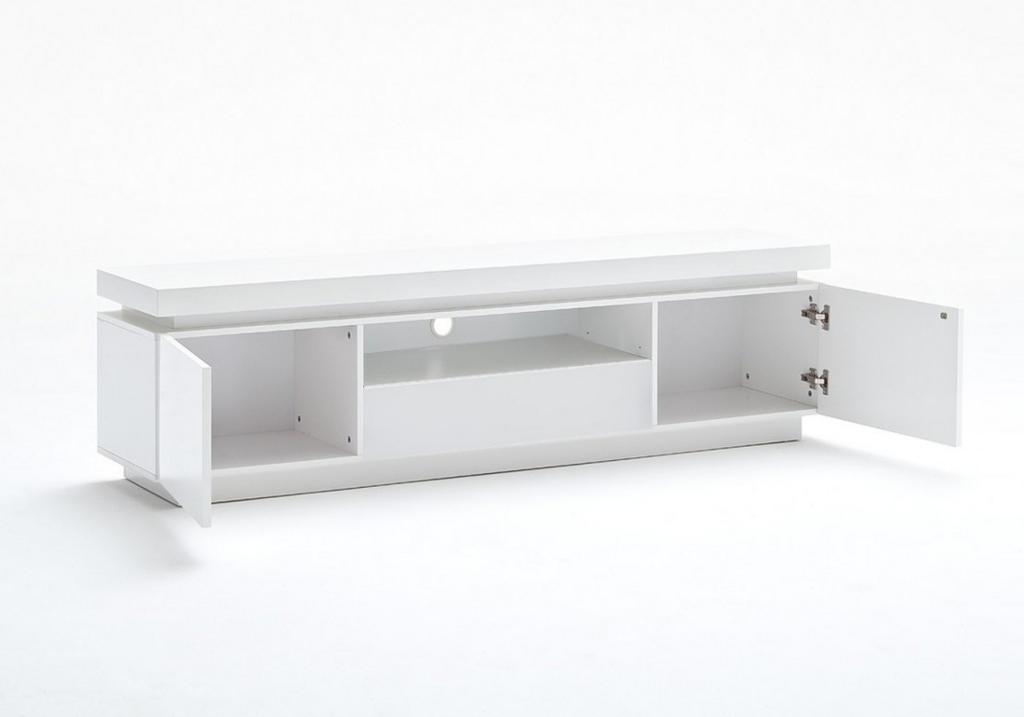 Meuble Tv laqué blanc LED OPRA.2