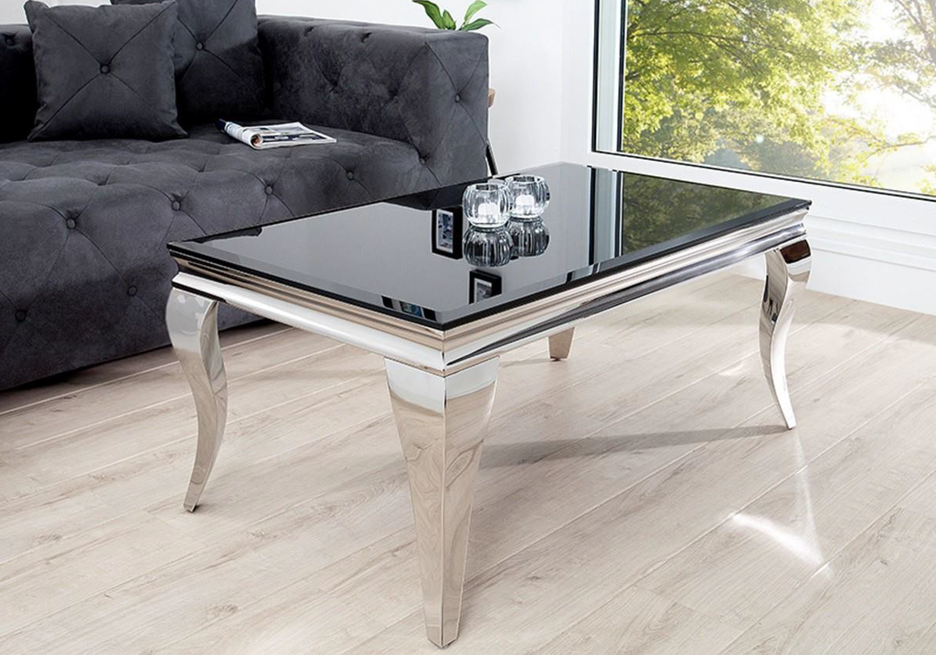 Table basse baroque chromé NEO