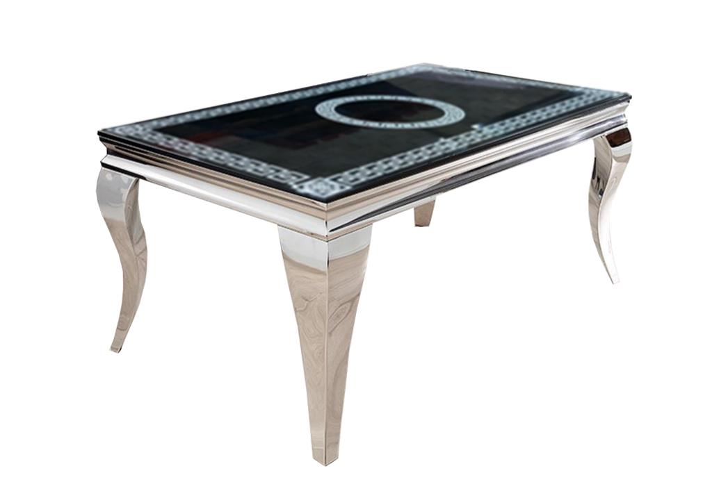 Table basse baroque chromé versace NEO.1