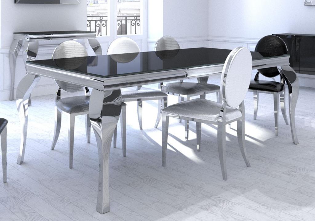 Table repas baroque chromé NEO.1