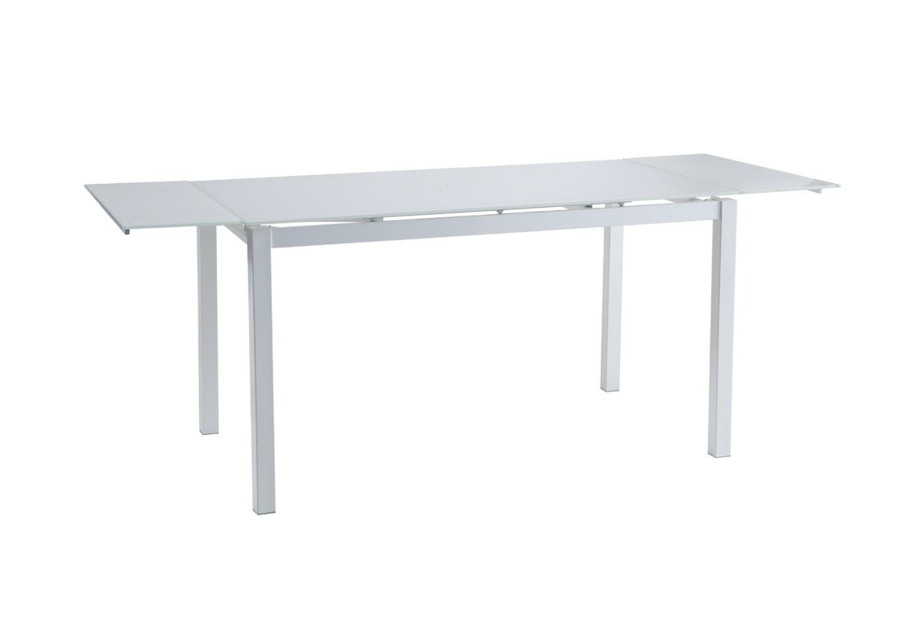 Table verre extensible + 4 chaises blanc FLY