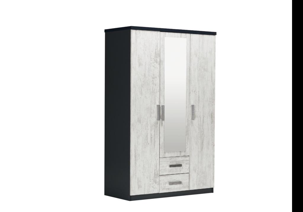 armoire-3-portes-2-tiroirs-noir-bois-blanci-ibiza