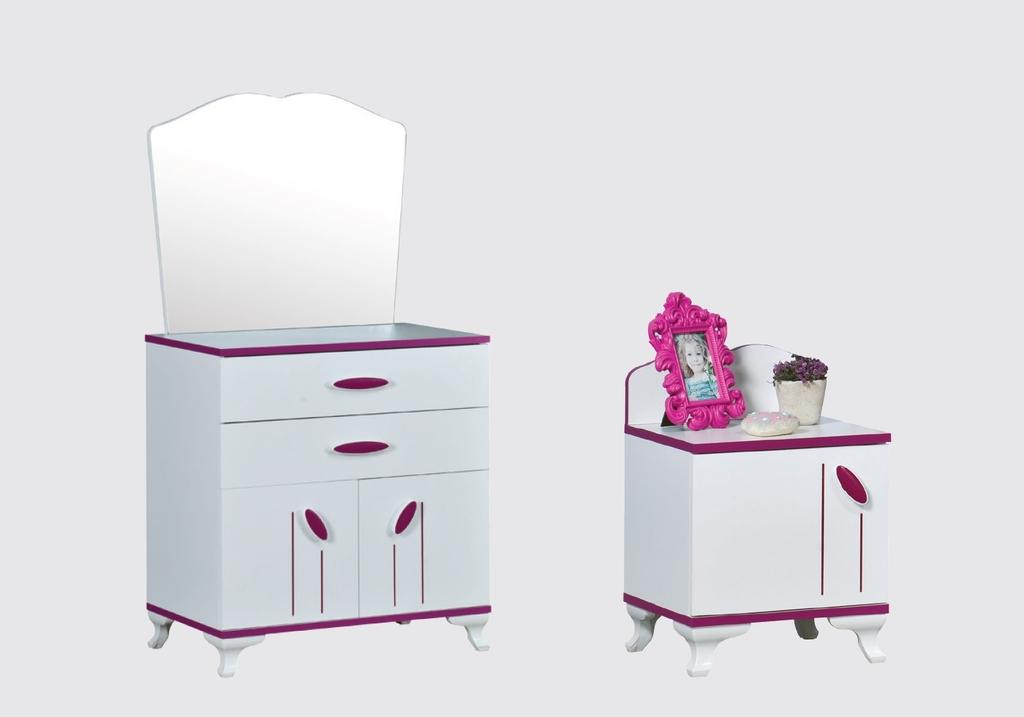 Chambre enfant fille rose ANGEL-5