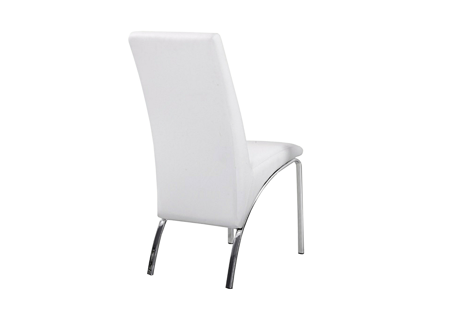 Lot 4 chaises chromé simili blanc ROY.1