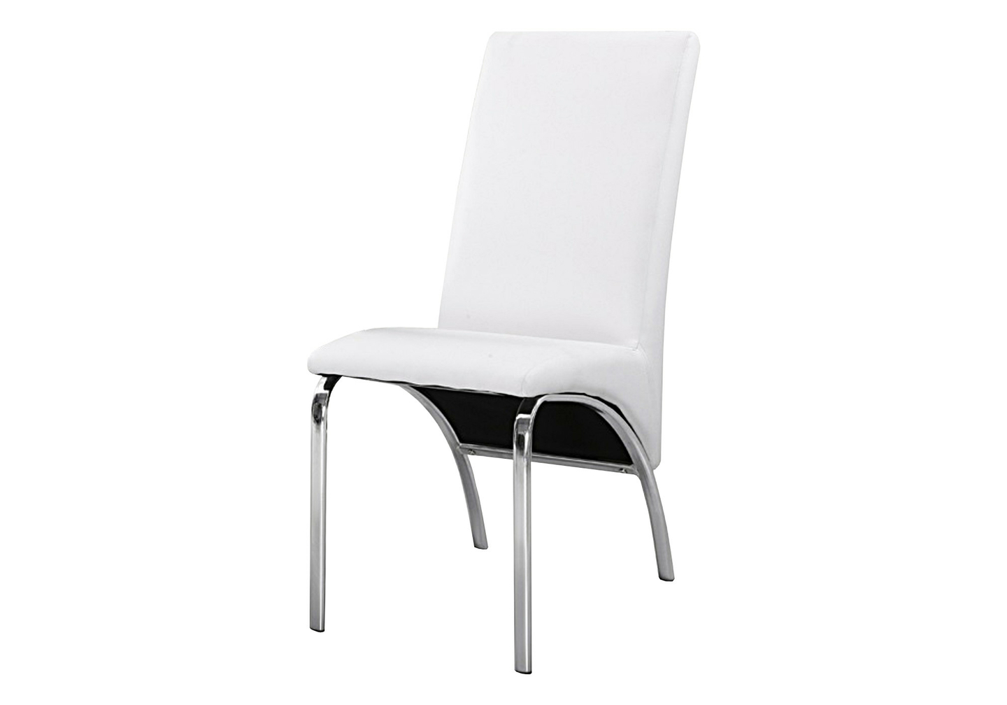 Lot 4 chaises chromé simili blanc ROY.3