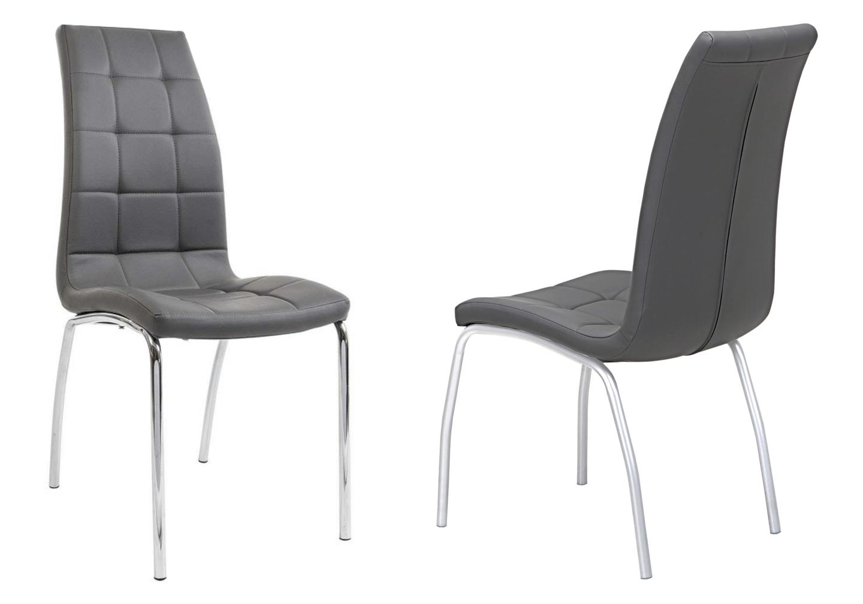 Lot 6 chaises chromé gris DEA