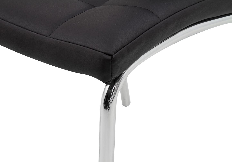 Lot 6 chaises chromé noir DEA.2
