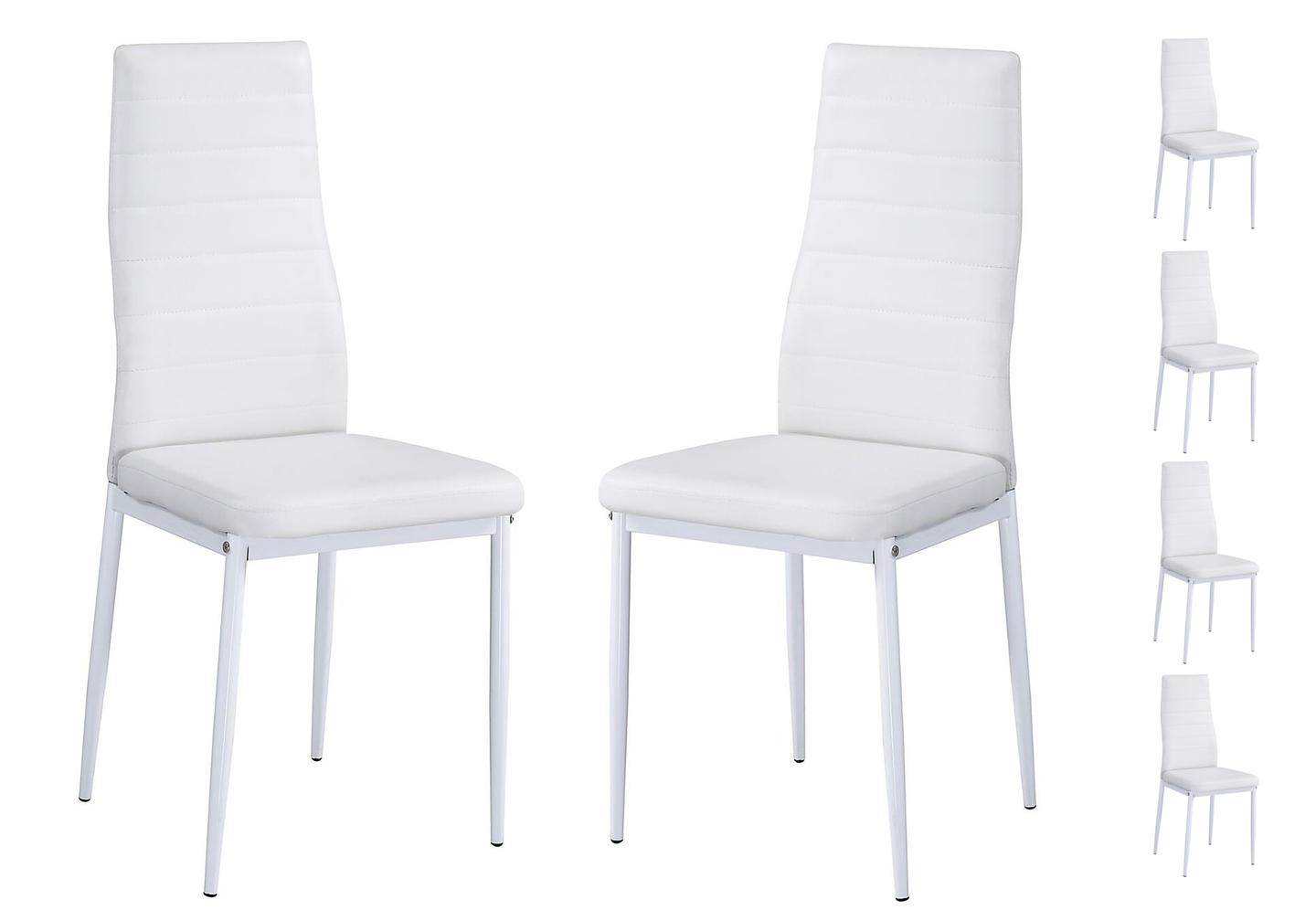 Lot 6 chaises design blanc FLY.1