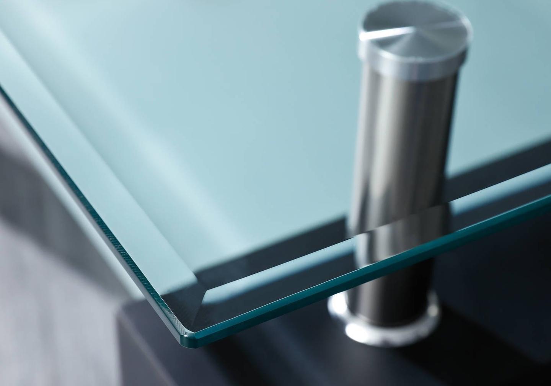 Table basse laqué noir verre trempé TOE-a2