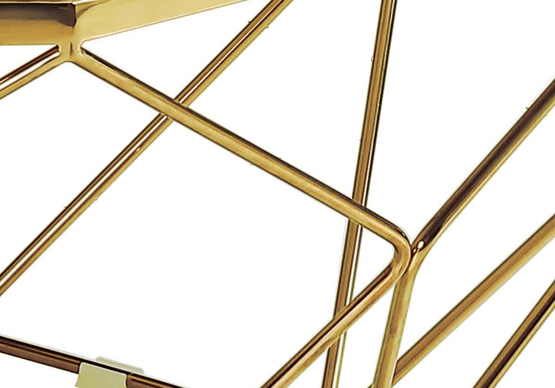 Table basse octogonale doré marbre LOÉ.2