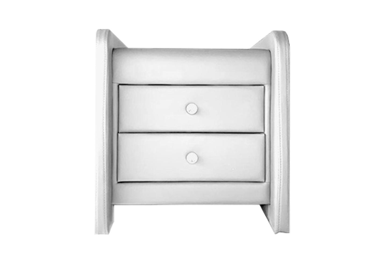 Table chevet design simili blanc SOFT