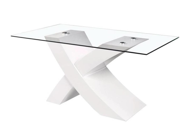 Table manger design laqué blanc ROY.5
