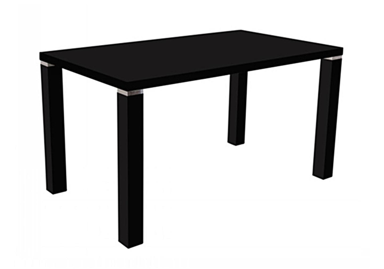 Table manger laqué noir UGO