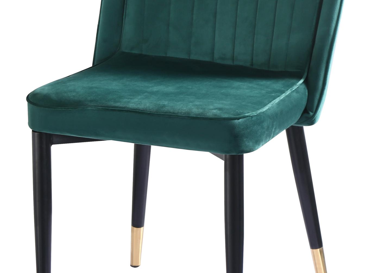 Chaises rétro velours vert AVY.2