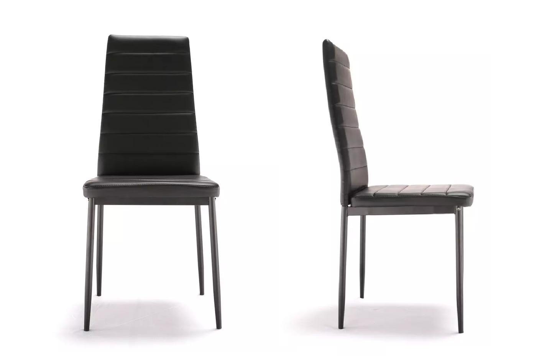 Lot de 4 chaises design noir FLY.1