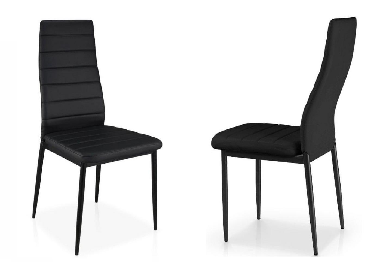 Table verre extensible 6 chaises noir fly design pas cher - Chaise design fly ...