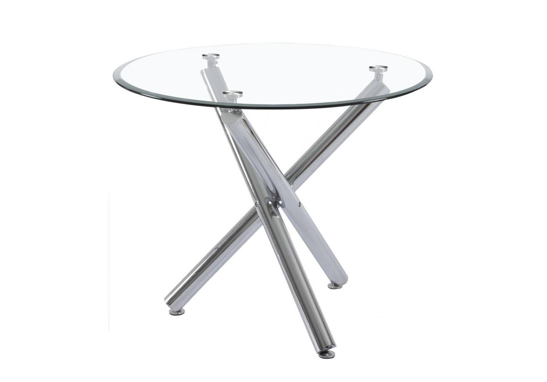 Table A Manger Ronde Verre Chrome Retro Table Design Pas Cher