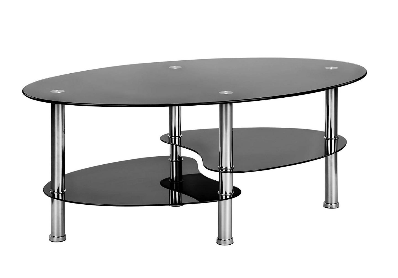 Table basse verre trempé noir TAO.1