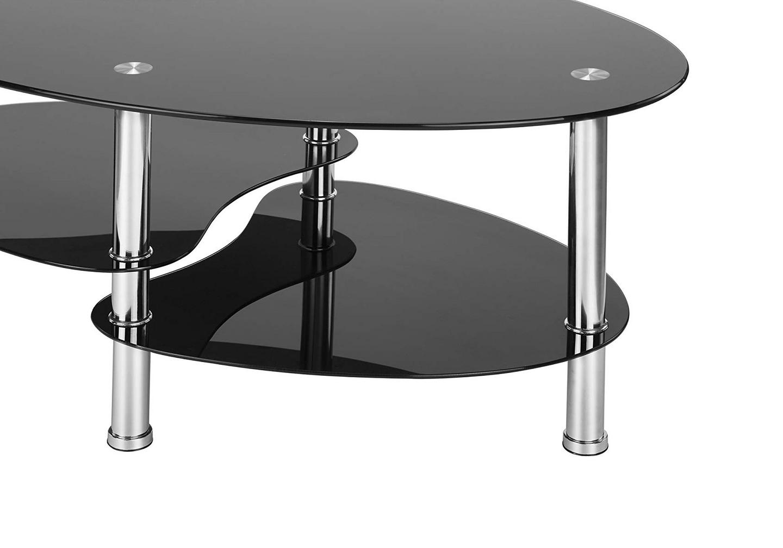 Table basse verre trempé noir TAO.3