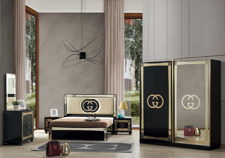 Chambre complète noir doré GUGI
