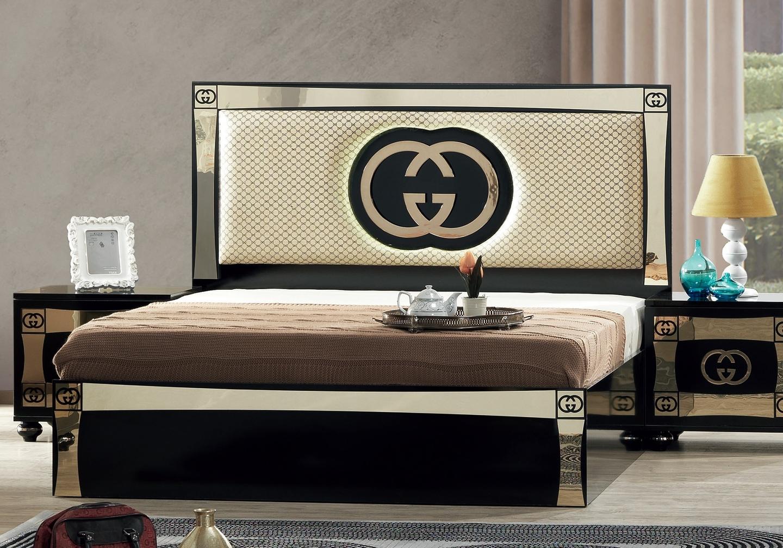 Chambre complète noir doré GUGI-1