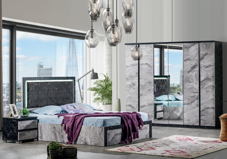 Chambre à coucher complète marbre CARRERA