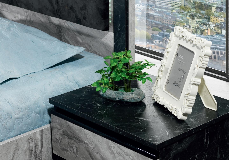Chambre à coucher complète marbre CARRERA-3