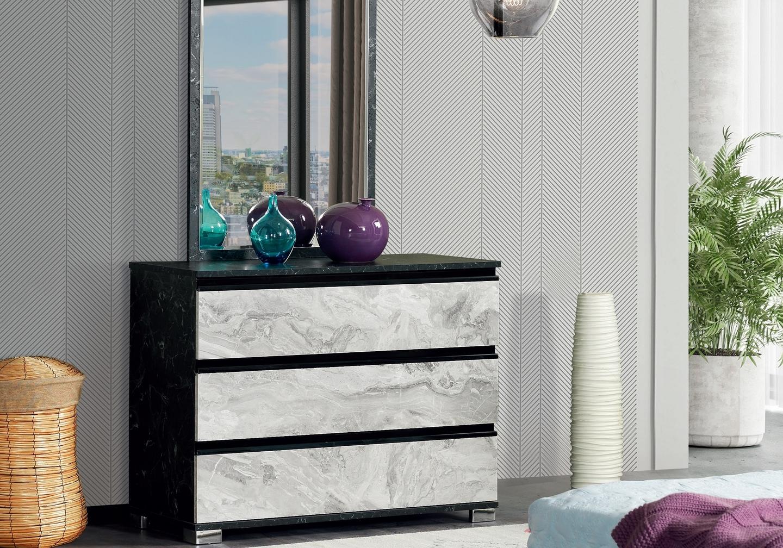 Chambre à coucher complète marbre CARRERA-2