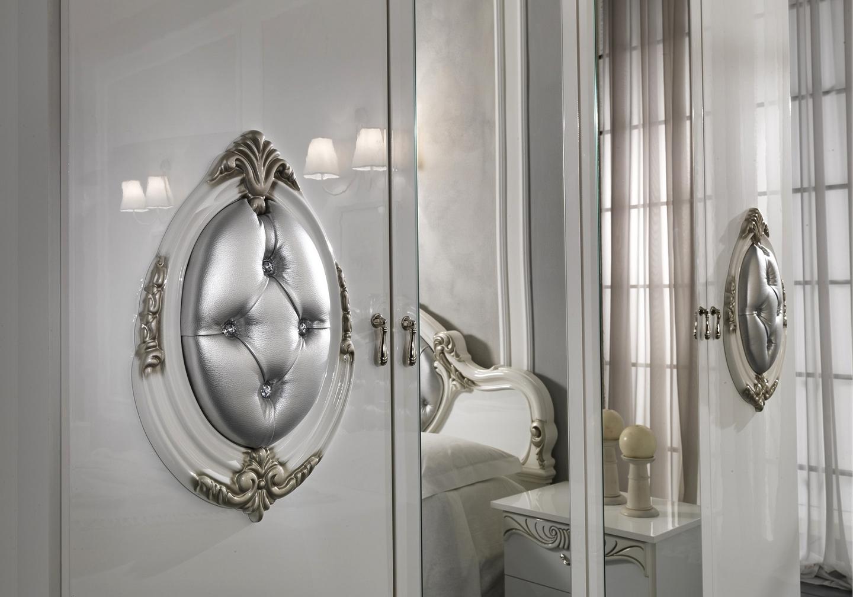 Chambre complète blanc argenté MICHELLE-3