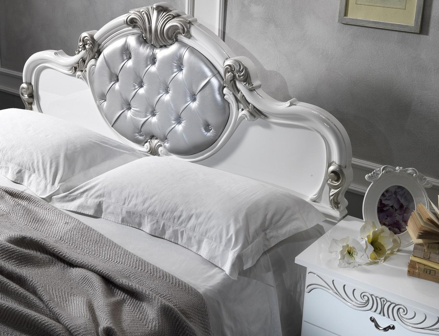 Chambre complète blanc argenté MICHELLE-1