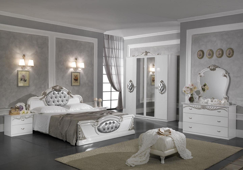 Chambre complète blanc argenté MICHELLE